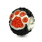 Orange/Black Paw Pave